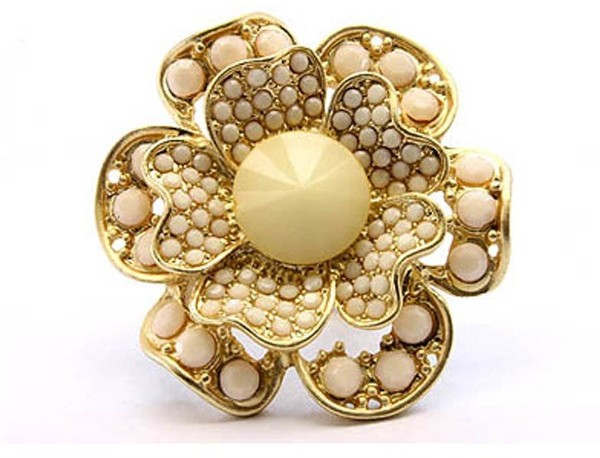 Style Tryst Beaded Flower Ring