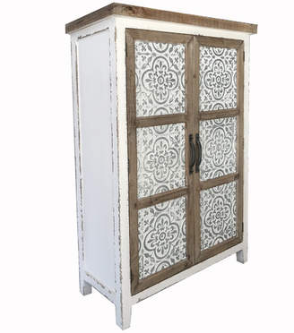 Chateau 2 Door Wood & Metal Cabinet