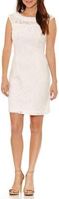 Studio 1 Sleeveless Embellished Sheath Dress-Petite