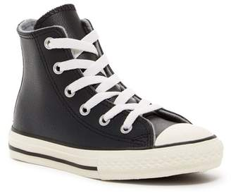 Converse Chuck Taylor® All Star® Leather High Top Sneaker (Little Kid) $40 thestylecure.com