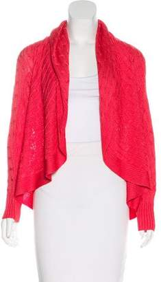 Ralph Lauren Black Label Silk Cable Knit Cardigan