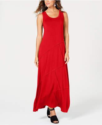 229492dda032e Style & Co Petite Exposed-Seam Maxi Dress