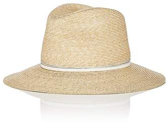 Lola Hats Women's Wrapped Up Straw Fedora