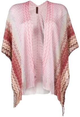 Missoni pink fringed cardigan