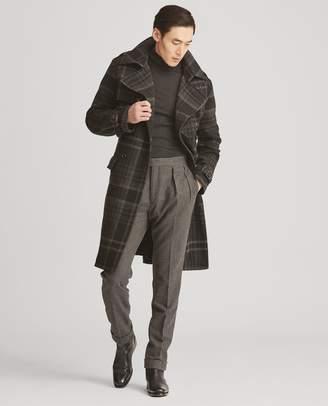 Ralph Lauren Plaid Wool Tweed Trench Coat