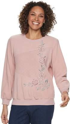 Alfred Dunner Women's Studio Embroidered Crewneck Sweatshirt
