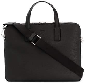 HUGO BOSS pebbled laptop bag
