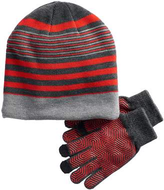 Tek Gear Boys 4-20 Sherpa-Lined Hat & Gloves Set