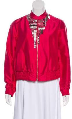 Magaschoni Embellished Silk Jacket