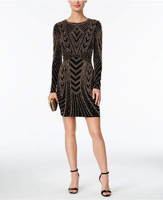 Xscape Evenings Beaded Bodycon Dress