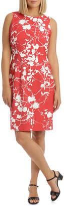 Shadow Floral Sleeveless Dress