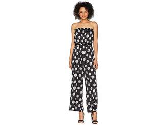 Vince Camuto Strapless Botanical Tropic Belted Jumpsuit Women's Jumpsuit & Rompers One Piece