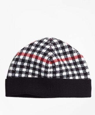 Brooks Brothers Wool Blend Windowpane Hat