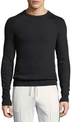 Vince Diagonal-Stitch Crewneck Sweater