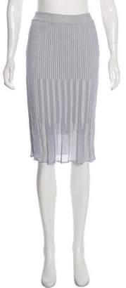 Salvatore Ferragamo Pleated Knee-Length Skirt