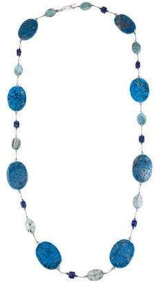 Lapis Margo Morrison & Kyanite Bead Necklace
