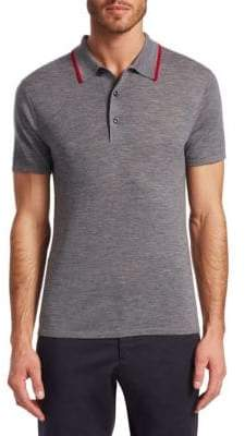 Saks Fifth Avenue MODERN Short-Sleeve Sweater Polo