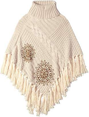 Desigual Women's Knitted Poncho_Soft