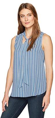 fc6a6ae3e3c4b1 Lark & Ro Blue Women's Sleeveless Tops - ShopStyle