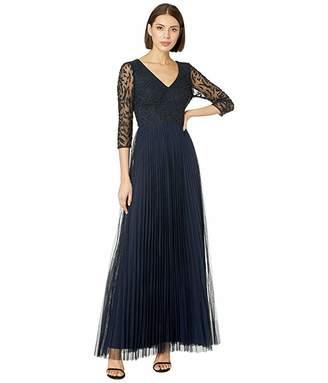 dea026301dbf3 Adrianna Papell 3/4 Sleeve Beaded Evening Gown