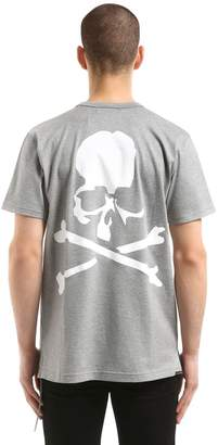 Skull Print Cotton Jersey T-Shirt