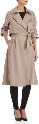 Vince Camuto Belted Long Trench Jacket