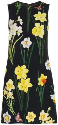 Dolce & Gabbana Floral-printed silk-blend dress