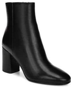 Diane von Furstenberg Robyn Leather Striped Heel Booties