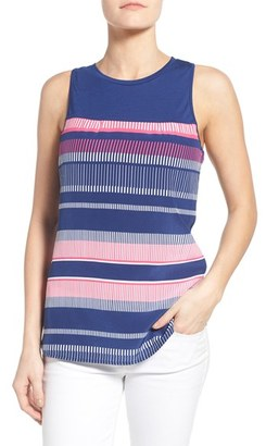 Women's Tommy Bahama 'Bonaire Stripe' Mixed Media Tank $128 thestylecure.com