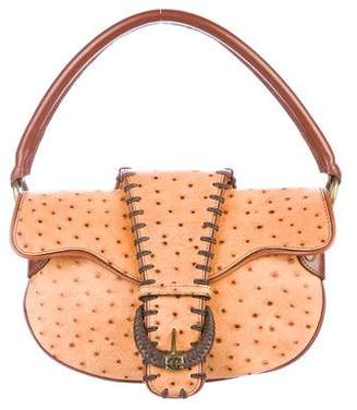 Just Cavalli Embossed Leather Shoulder Bag