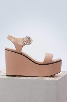 Jimmy Choo Nylah 100 wadges sandals