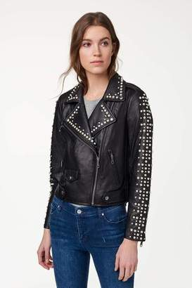 Rebecca Minkoff Wes Moto Jacket With Pearls