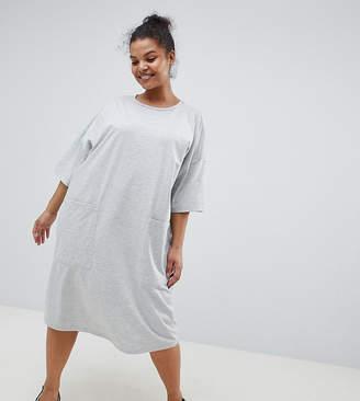 Asos DESIGN Curve boyfriend t-shirt dress with pocket