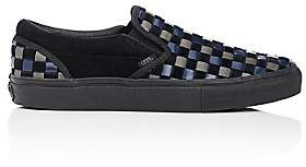 Vans Men's BNY Sole Series: Woven Leather & Suede Slip-On Sneakers - Black