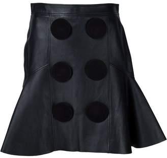 Givenchy (ジバンシイ) - Givenchy レザーフレアスカート