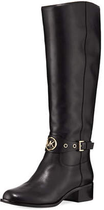 MICHAEL Michael Kors Heather Block-Heel Leather Knee Boots