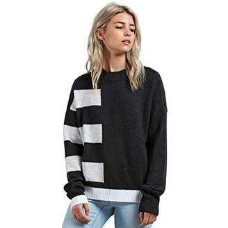 Volcom Junior's Cold Band Color Blocked Crew Neck Sweater