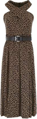 MICHAEL Michael Kors Leopard-printed Crossed Dress