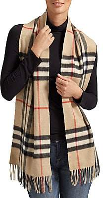 Burberry Women's Classic Giant Check Cashmere Scarf