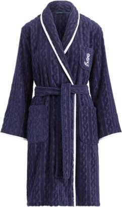 Ralph Lauren Cable Cotton Kimono Robe