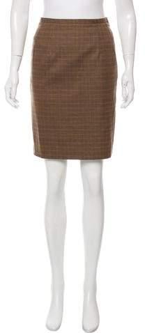 Michael Kors Houndstooth Pencil Skirt