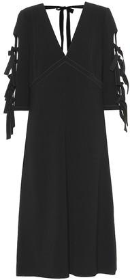 Bottega Veneta Bow-adorned crepe dress