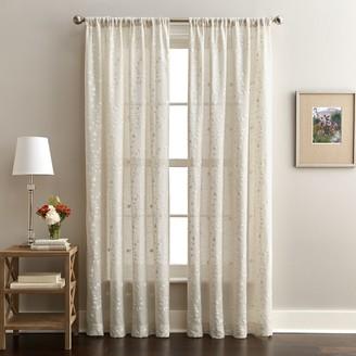 Window Curtainworks 1-Panel Lynette Embroidered Sheer Window Curtain