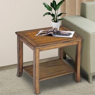 GranRest Granrest Pine Wood End Table, Antique Oak