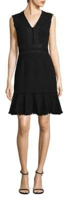Rebecca Taylor Tweed Lace Shift Dress