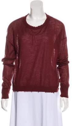 Helmut Lang Cashmere Semi-Sheer Long Sleeve Sweater