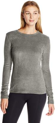 Cuddl Duds Women's Fleecewear with Stretch Crew Neck Top