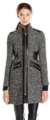 Via Spiga Women's Tweed Wool Coat $320 thestylecure.com