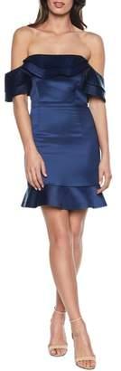 Bardot Athena Frill Off the Shoulder Dress