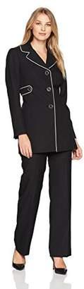 Le Suit Women's Crepe 3 Button Pant Suit
